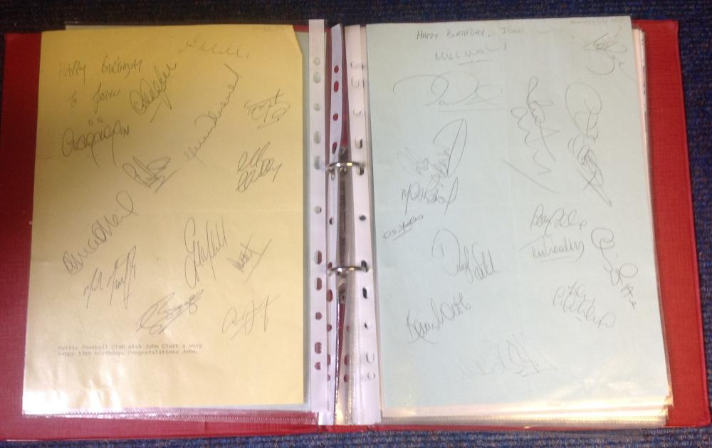 Assorted Football signed team sheets from 1992/3 season. 18 in total. Good Condition. All signed
