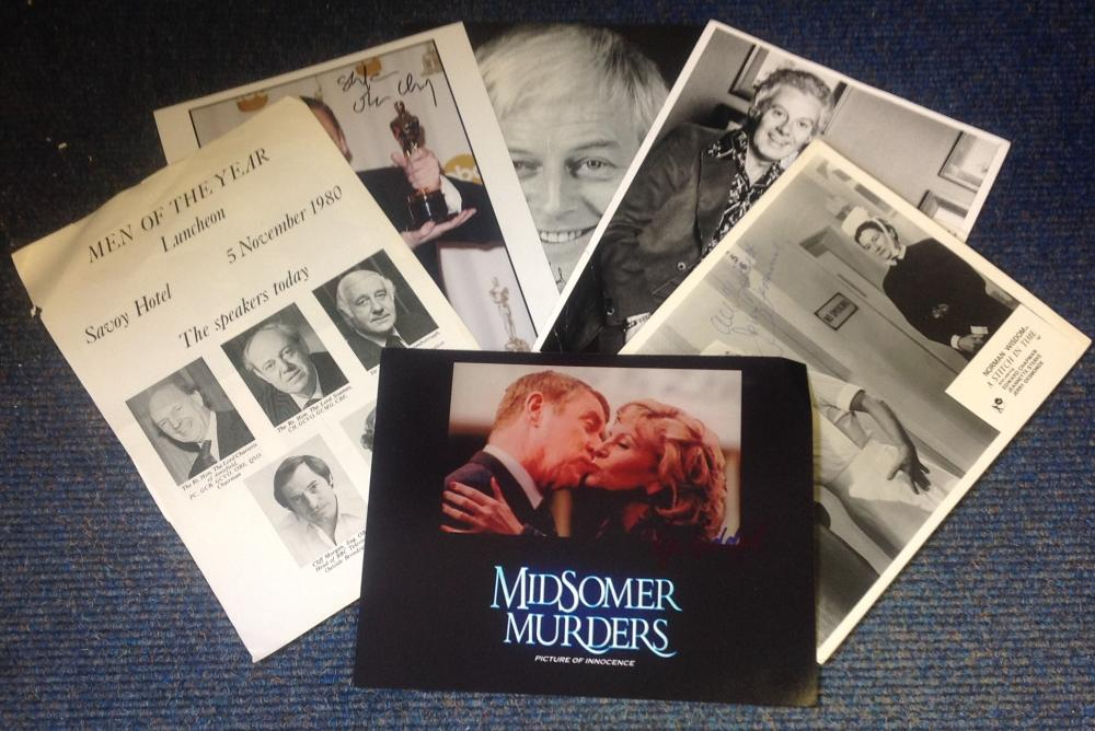 TV/film signed 10x8 photo collection. 6 photos. Amongst the signatures are Ian Lavender, Stefane
