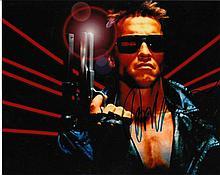 Arnold Schwarzennegger signed 10x8 Colour Photo Of