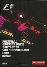 Lewis Hamilton signed 2012 German Grand Prix