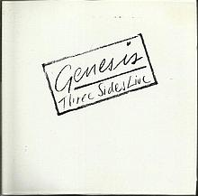 Genesis signed to inside of CD Three Side Live,