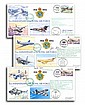 RAF Collection 75th ann. covers, three flown by