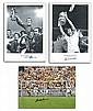 Football photos, three large sized 16 x 20 photos