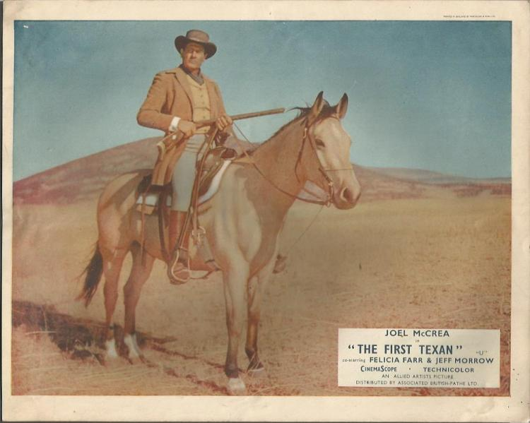 Lobby cards The First Texan  Set of 6, 10x8 coloured lobby c