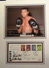 Muhammad Ali Boxing signed autograph presentation. High quality professionally mounted 17x13 inch