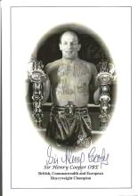 Sir Henry Cooper OBE 8x6 signed b/w photo. Sir Henry Cooper OBE KSG 3 May 1934, 1 May 2011 was an