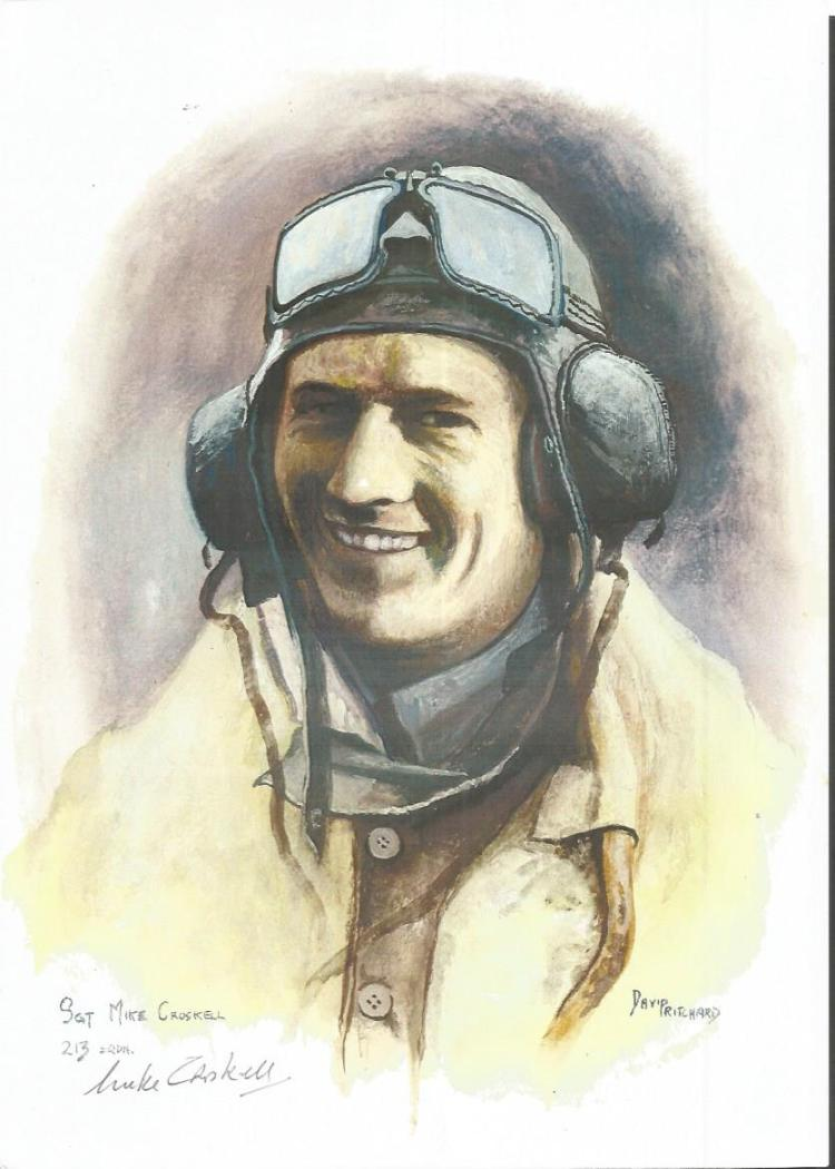 Sgt Mike Croskell WW2 RAF Battle of Britain Pilot signed col