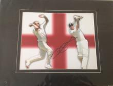 Freddie Flintoff signed 10 x 8 colour photo. Mounted to 16 x 12 overall size. Broadcaster, TV