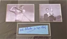 Golf 14x8 signed signature piece Bob Charles. Sir Robert James Charles ONZ KNZM CBE (born 14 March