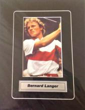 Golf 10x8 mounted signed colour photo Bernard Langer. Bernhard Langer born 27 August 1957) is a