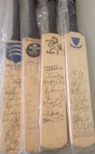 Cricket miniature signed cricket bats collection including bats signed from Kent CCC, Surrey CCC,