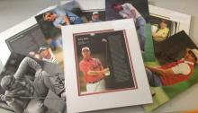 Golf collection including 4 framed signature pieces and 6 signed photos. Framed signature pieces