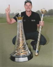 Henrik Stenson 12x8 signed colour photo. Swedish professional golfer who plays both on the PGA and