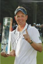 Luke Donald 12x8 signed colour photo. English professional golfer who has been the World Number One.
