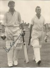 Tom Graveney 6x5 signed b/w photo. English first-class cricketer, representing his country in 79