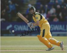 Adam Voges 10x8 signed colour photo. Former international Australian cricketer who played for the