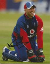 Matt Prior 10x8 signed colour photo. former English cricketer, who played for England in Test