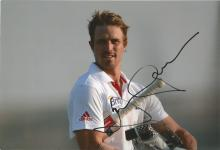Nick Compton 12x8 signed colour photo. English first-class cricketer who plays for Middlesex. The
