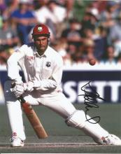 Jimmy Adams 10x8 signed colour photo. Former Jamaican cricketer, who represented the West Indies