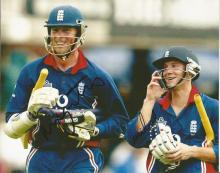 Marcus Trescothick and Chris Read 10x8 signed colour photo. English cricketer and former Test and