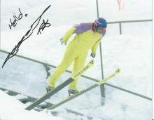 Eddie Edwards 10x8 signed colour photo. Known as the eagle became household name when he appeared at