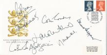 Cricket multisigned Pat Symcox, Colin Cowdrey, Vic Marks, Colin McKenzie, Barry Richards, Jonathan