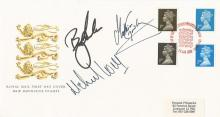 Golf Multisigned Mike Wier, Mathias Gronberg and Billy Andrade signed new definitive stamps FDC.22/