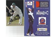 Cricket signed collection 2. Assortment of signed magazine pages, programme, compliment slip. Some