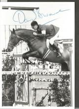 David Broome 5x3 signed b/w photo. Welsh show jumper who competed in 5 Olympic games winning two