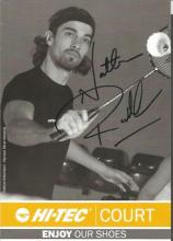 Nathan Robertson 6x4 signed flyer. British badminton player winner of a world championship silver