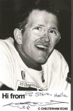 Eddie Edwards 5x3 signed b/w photo. Known as the eagle became household name when he appeared at the
