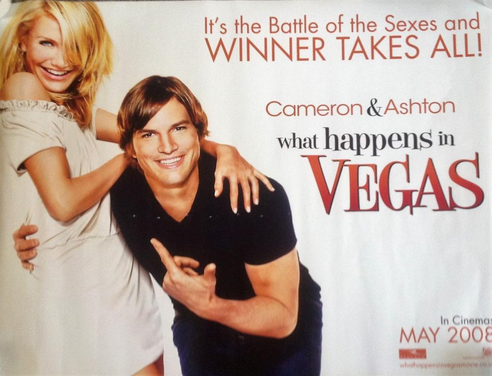 Sold Price What Happens In Vegas 40x30 Movie Poster From The 2008 Romantic Comedy Starring Cameron Diaz And June 3 0120 6 00 Pm Bst