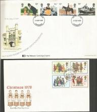 1970s GB First Day Cover Collection. Over 50 GB first day covers and single stamp covers from the 1970s with either neat typed addresses or no addresses. Includes 3rd June 1970 Literary Anniversaries Dickens and Wordsworth with four of the stamps and Rochester postmark, 22nd Sept 1971 Modern University Buildings with the full set of stamps and London postmark, 20th November 1972 Royal Silver Wedding with the two stamps and Enfield postmark, 9th October 1974 Birth Centenary of Winston Churchill with the full set of stamps and Enfield postmark, 19th Feb 1975 Birth Bicentenary of JMW Turner with the full set of stamps and Bristol postmark, 27th Nov 1974 Christmas with the full set of stamps and Guildford postmark, 12th Jan 1977 Racket Sports with the full set of stamps and Tintagel Cornwall CDS postmark, 1st March 1978 British Architecture Historic Buildings with the full set of stamps and Tintagel Cornwall CDS postmark and so many more. Good condition. All signed items come with a Certificate of Authenticity and can be shipped worldwide.