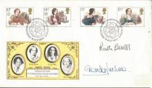 Ruth Rendall, Glenda Jackson signed 1980 Theatre FDC.  Good condition. All signed items come with a Certificate of Authenticity and can be shipped worldwide.