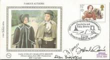 Authors multisigned FDC. John Le Carre, P D James, Stan Barstow signed 1980 Benham small silk single stamp FDC.  Good condition. All signed items come with a Certificate of Authenticity and can be shipped worldwide.
