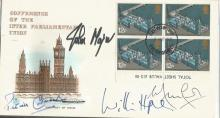 John Major, William Hague, Patrick Cormack, Peter Fox signed 1974 Parliamentary Conference FDC.  Good condition. All signed items come with a Certificate of Authenticity and can be shipped worldwide.