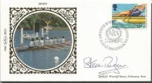 Steve Redgrave signed Benham small silk 1980 Sport FDC.  Good condition. All signed items come with a Certificate of Authenticity and can be shipped worldwide.