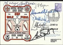Bob Paisley and Liverpool legends signed1984 1984