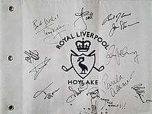 Golf Legends signed Large Royal Liverpool Hoylake
