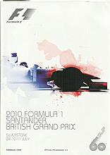 Formula One Multisigned 2010 Silverstone Grand