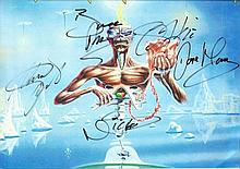 Iron Maiden Rock band signed 12 x 8 colour photo.