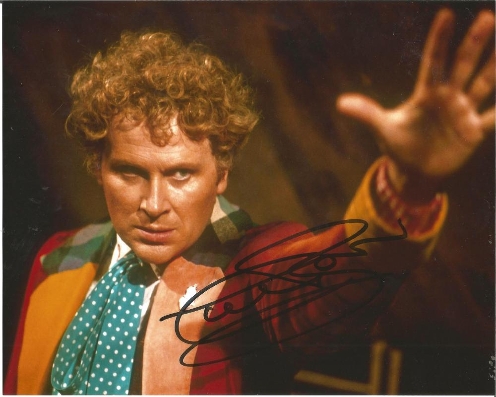 - AUTHENTIC Colin Baker hand signed autograph Doctor Who image c