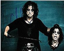 Alice Cooper 8x10 colour Photo of Alice, Signed by