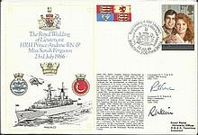 Navy Signed Covers collection of nine signed Royal