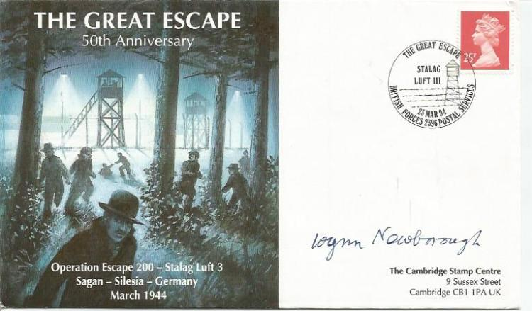 Lord Newborough Dsc Colditz Castle Ww2 Pow Signed 1994 50th