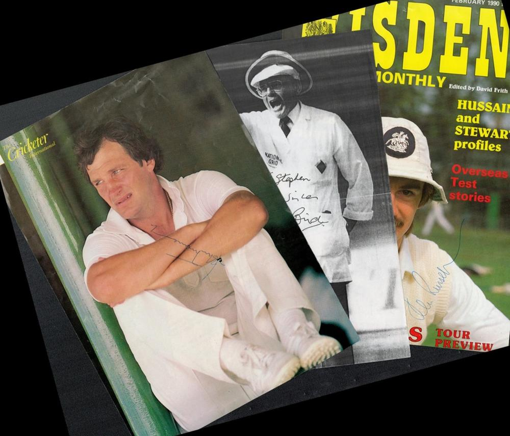 Cricket Collection Of individually signed magazine photos signed by the likes of Dominic Cork in