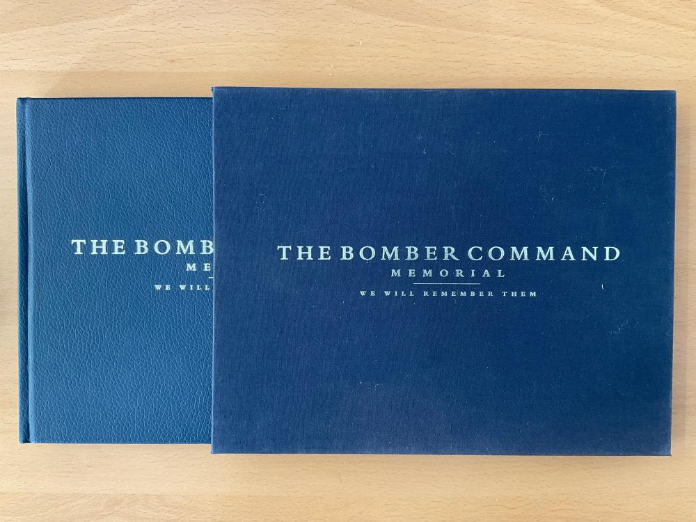 WW2 MULTI-SIGNED Bomber Command Memorial Book 22 signatures include Ray Briggs, Ted Kay, Ron Tomlin,