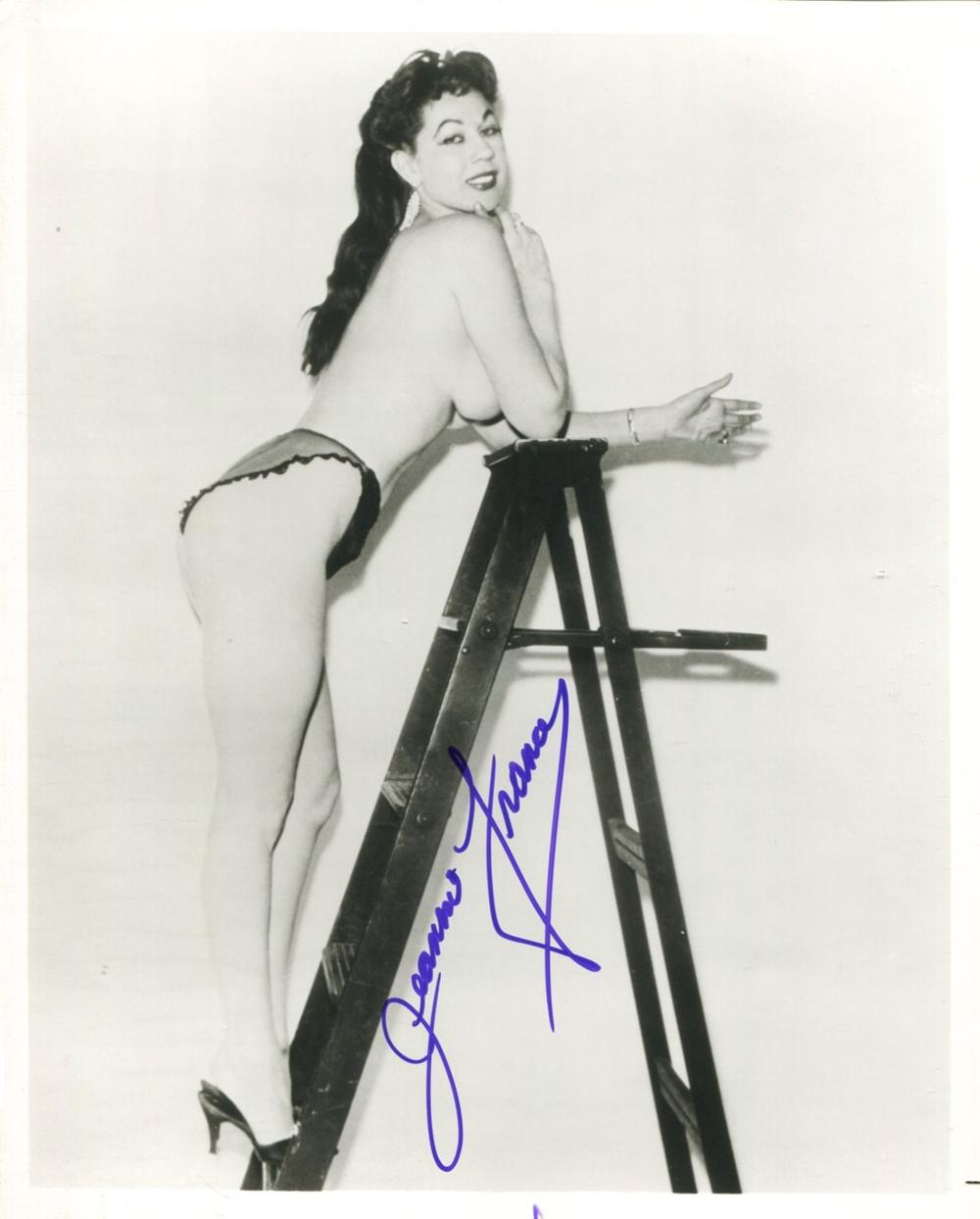 Burlesque queen and stripper Jeanine France signed 8x10 photo, in the 1950's she was nicknamed '