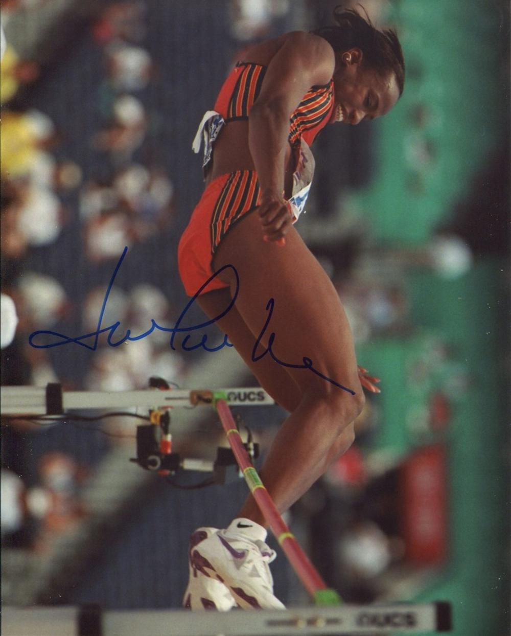 Jackie Joyner-Kersee signed 8x10 photo, ranked among the all-time greatest athletes in the