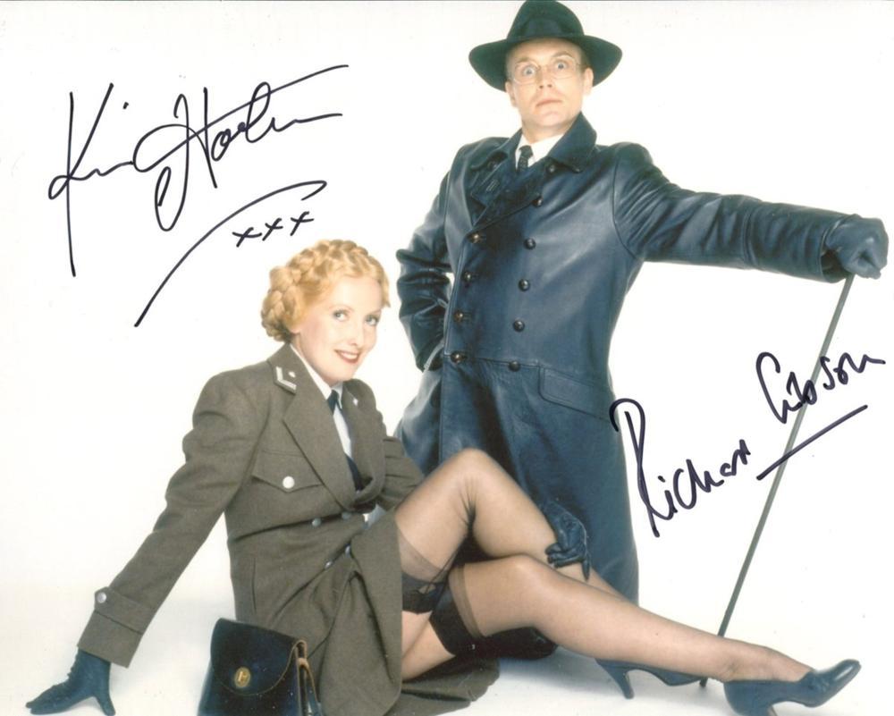 Allo Allo 8x10 photo signed by both Richard Gibson (Herr Flick) and Kim Hartman (Helga) rare. Good